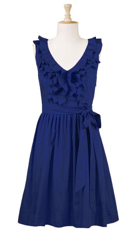 Rehearsal dinner?: Ruffle, Summer Dresses, Style, Bridesmaid Dresses, Clothes, Wedding, Closet, Navy Blue