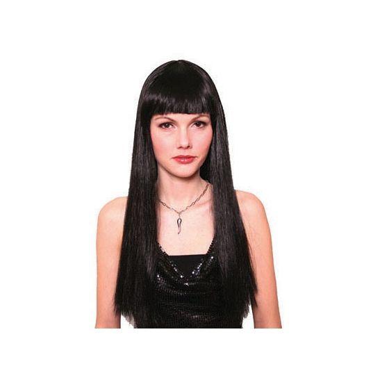 Meisjespruik zwart  Zwarte damespruik met lang stijl haar en pony. Verander van coupe met deze gave lange zwarte pruik met pony.  EUR 11.95  Meer informatie