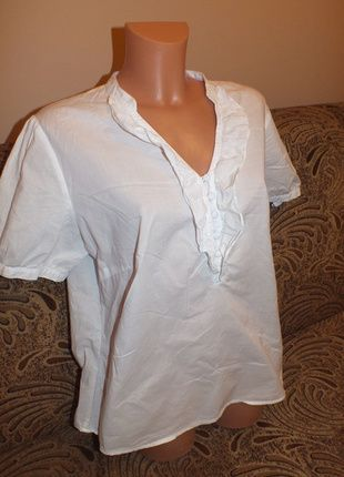 Kup mój przedmiot na #vintedpl http://www.vinted.pl/damska-odziez/koszule/11883543-biala-wizytowa-koszula-z-krotkim-rekawem-46-14
