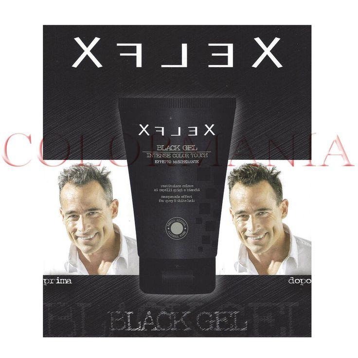 XFLEX BLACK GEL PER CAPELLI BIANCHI GRIGI BRIZZOLATI NON SPORCA BARBIERE 100 ML