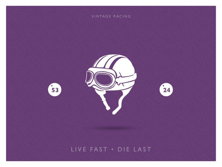 Vintage Helmet Racing by pramod kabadi