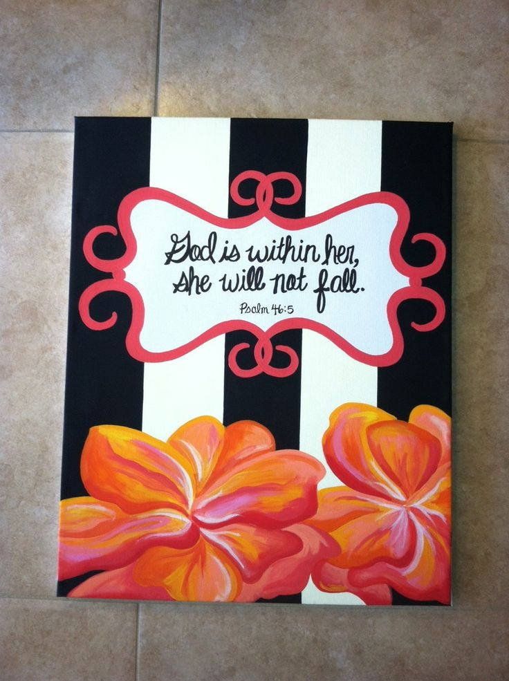 Bible verse Psalm 46:5 painting. Hand painted in acrylics.. $40.00, via Etsy.