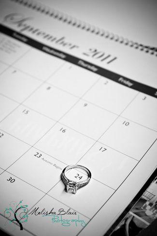 27 Cute Save the Date Photo Ideas, love the calendar and ring idea