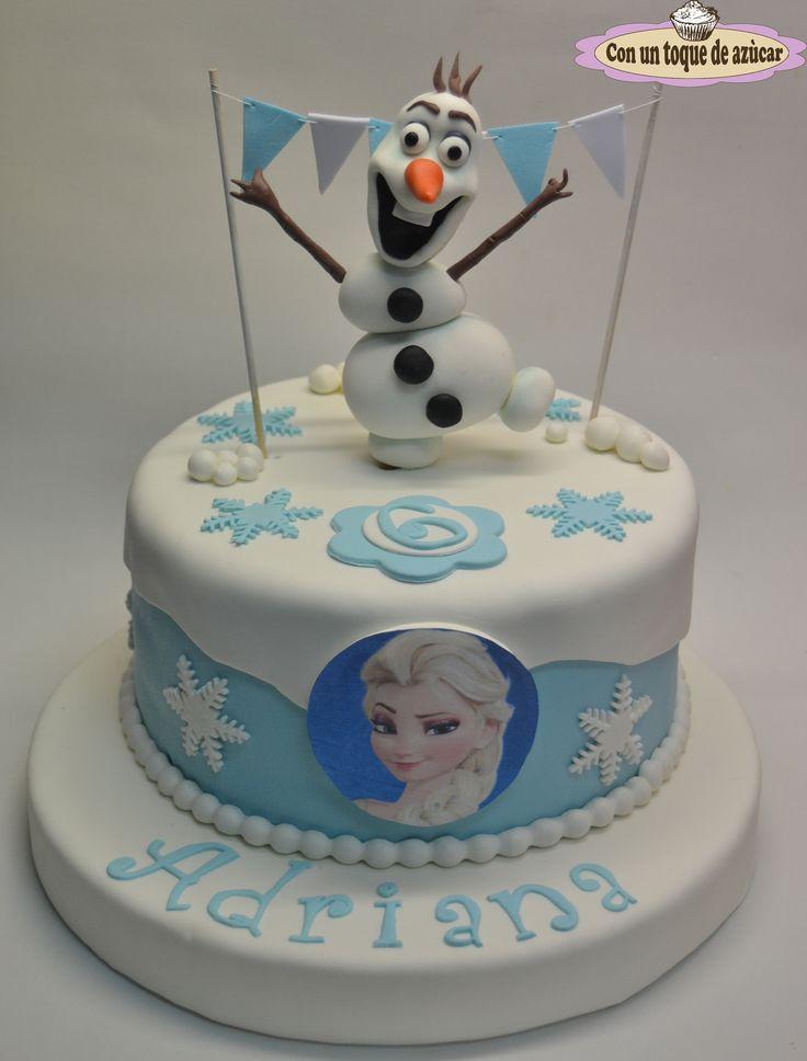 Tarta fondant Frozen, tarta fondant Olaf, Olaf Cake, Frozen cake