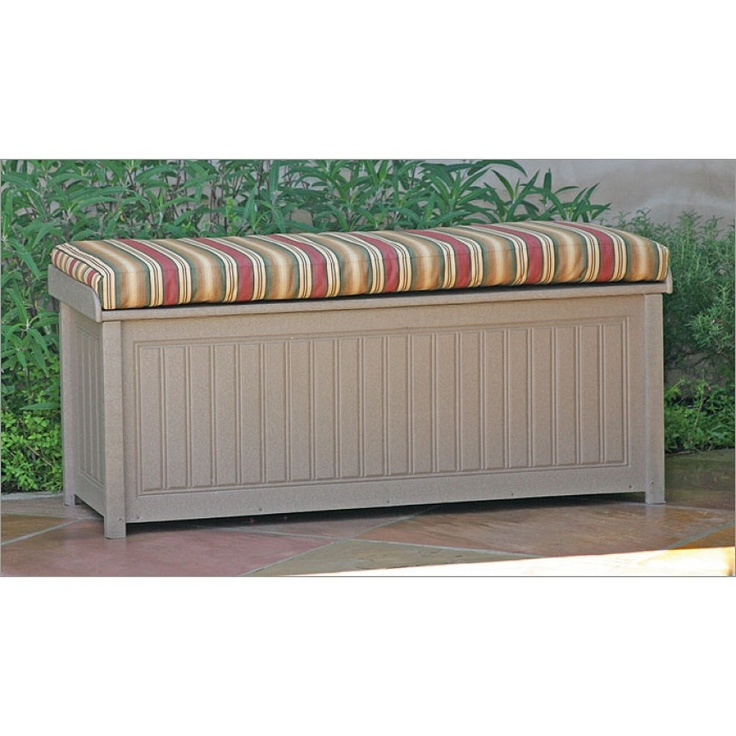 47 best patio furniture images on pinterest outdoor Deck storage bench