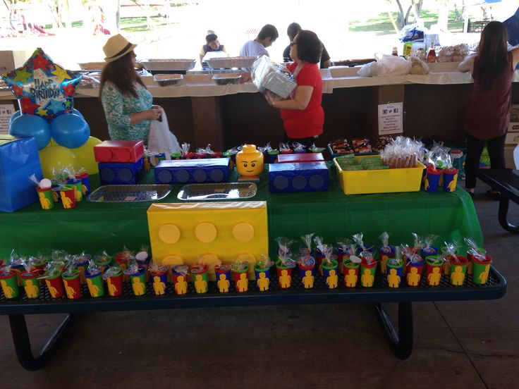 Lego themes birthday party for a 7 year old boy... So cute! # ...