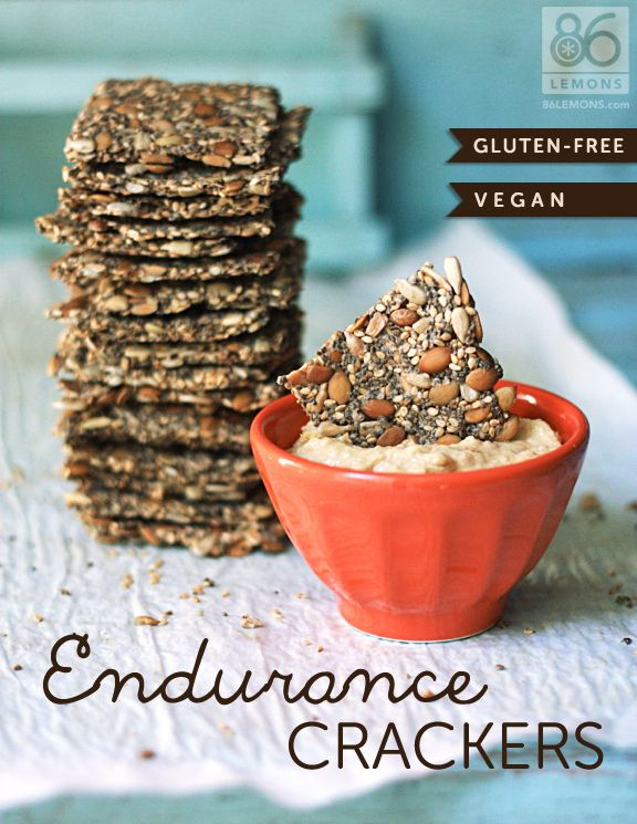 Vegan/GF crackers - these are DECLICIOUS and super easy to make...and even better brushed with ghee and sprinkled with nutritional yeast!