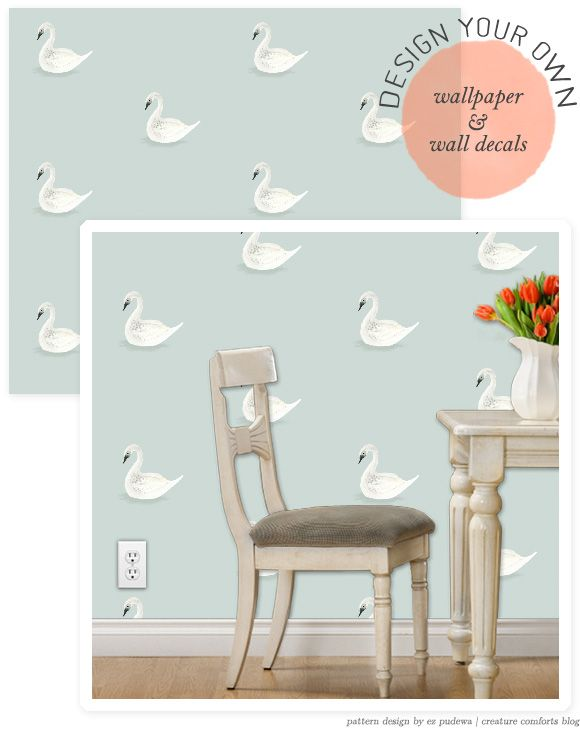 Design your own wallpaper wall decals via creature for Design your own wall mural