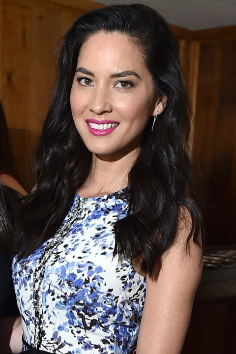 Who: Olivia Munn What: Fuchsia Lips How-To: The actress delivered a dose of spring makeup inspiration with her fuchsia lips and rosy complexion at the Hollywood Reporter's Power Stylists luncheon. The shade's purple tones are especially flattering to olive and dark skin. MY Pick: Avon Ultra Color Crayon in Fresh Fuschia! Visit www.yourAVON.com/gowithsallyto find more!
