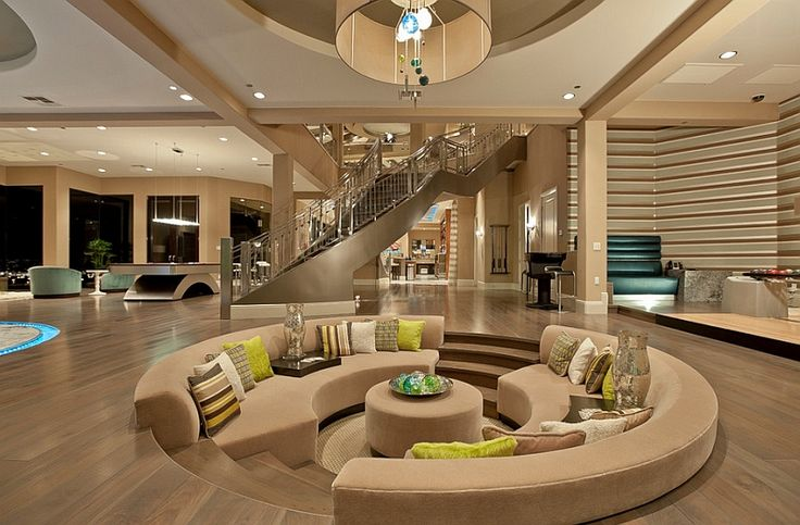 Step Up The Style Quotient Of Your Interiors With Sunken Living Rooms   http://www.decoist.com/2014-07-01/sunken-living-rooms/?utm_source=FacebookSL