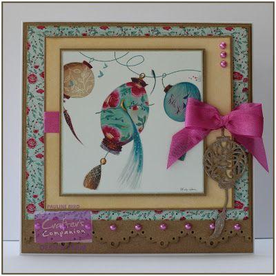 Pauline Bird - Crafter's Companion - Kimono CD, Kimono Lantern Die, Die'sire Lace Border Die - #crafterscompanion