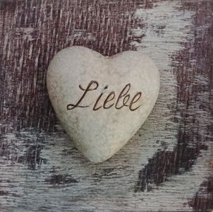 Love Liebe Stone Canvas Picture - $8.00. Available from http://www.wallartroad.com/small-art-pieces-under-15-00/ #wall #art #road #canvas