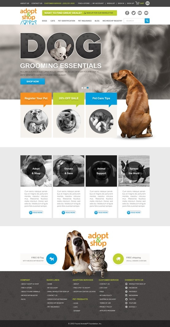 FoundAnimals.org Website renewal design just started~