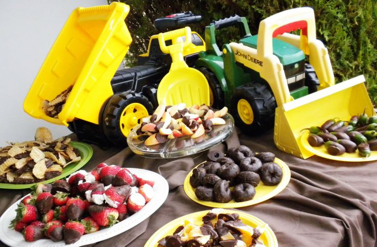 Baby boy shower - using the tonka trucks to hold the food or dumping onto a platter...we actually did a construction themed party for Jack's 3rd. This would have been cute!