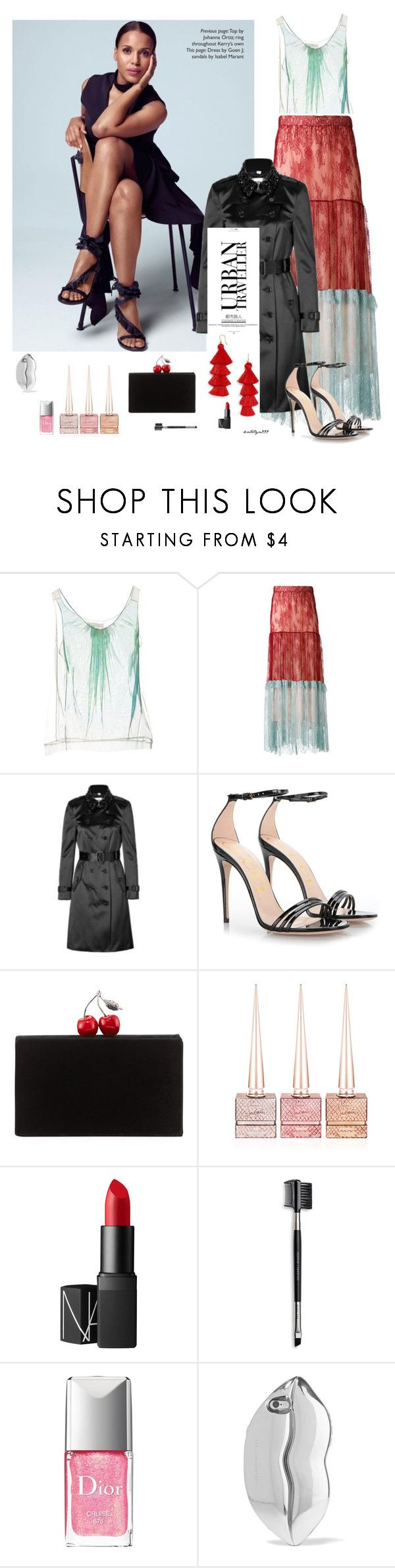 """""""Urban traveller"""" by katelyn999 ❤ liked on Polyvore featuring Chloé, Philosophy di Lorenzo Serafini, Burberry, Gucci, Edie Parker, Christian Louboutin, NARS Cosmetics, Mary Kay, Christian Dior and STELLA McCARTNEY"""