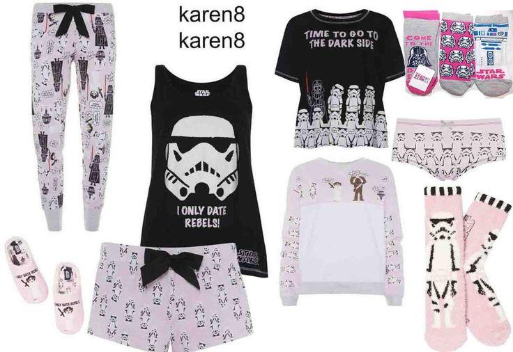 Ladies DISNEY STAR WARS Pyjamas Leggings T Shirt Shorts Slippers Primark | eBay