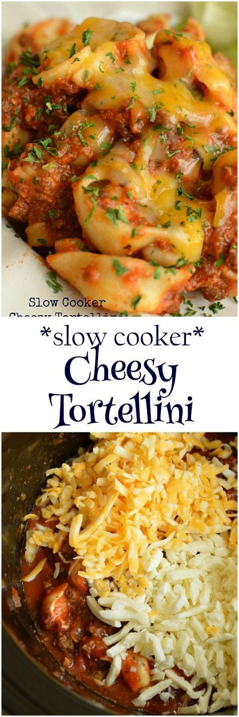 Recipes like this one save my life! Throw everything in the slow cooker and a few hours later, dig into the ultimately comforting Cheesy Tortellini! Little Dairy on the Prairie