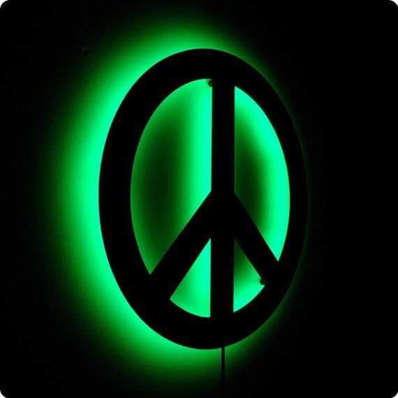 Peace Sign Wall Light | Groovy | Pinterest | Signs, Art ...