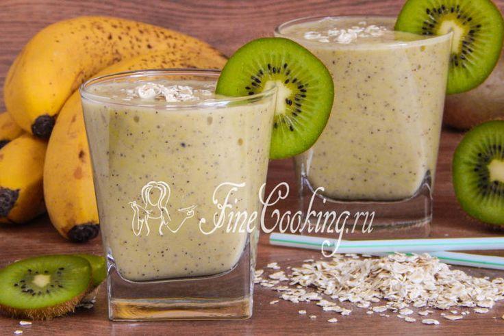 Овсяный смузи с бананом и киви - рецепт с фото