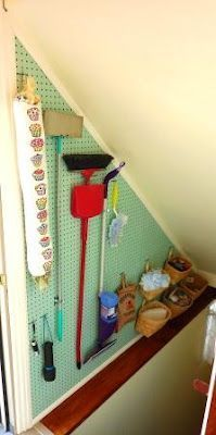 Pegboard Broom Closest- going down the basement?