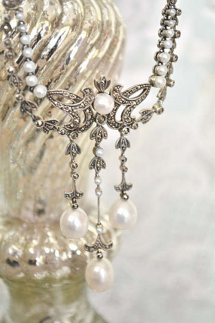 Pearls and silver