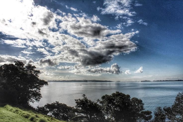 An unfamiliar view. The Big T and I explored eastern Auckland for the first time today. Motuihe Island and the Waitemata Harbour, from Musik Point. Photo: Su Leslie, 2015