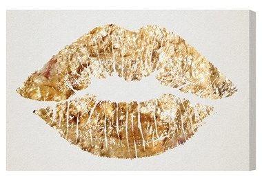 Oliver Gal 'Kiss' Wall Art | http://lifelutzurious.com/981 | #lifelutzurious #valentinesday #giftguide
