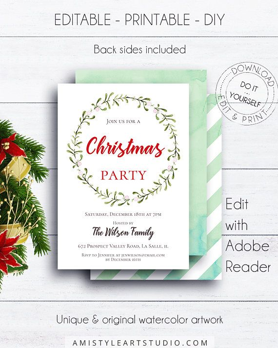 149 best amistyle invitations stationery images on pinterest christmas wreath holiday invite christmas party holiday invitation party invite xmas invitation christmas dinner christmas time solutioingenieria Image collections
