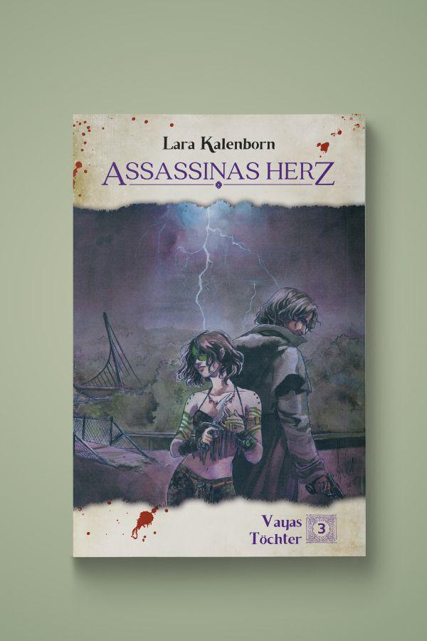 """Buchcover für den 3. Teil der Fantastik-Endzeit-Trilogie """"Vayas Töchter"""""""