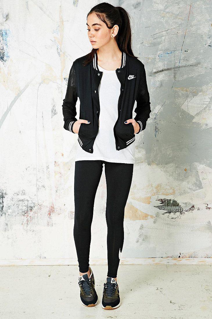 Nike Varsity Jacket in Black http://uoeur.pe/1hEUZsq