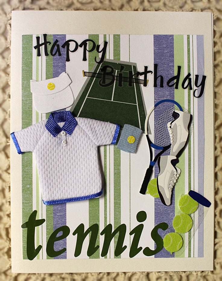 8 best sports tennis images on pinterest cricut cards happy tennis happy birthday handmade card 650 via etsy m4hsunfo Choice Image