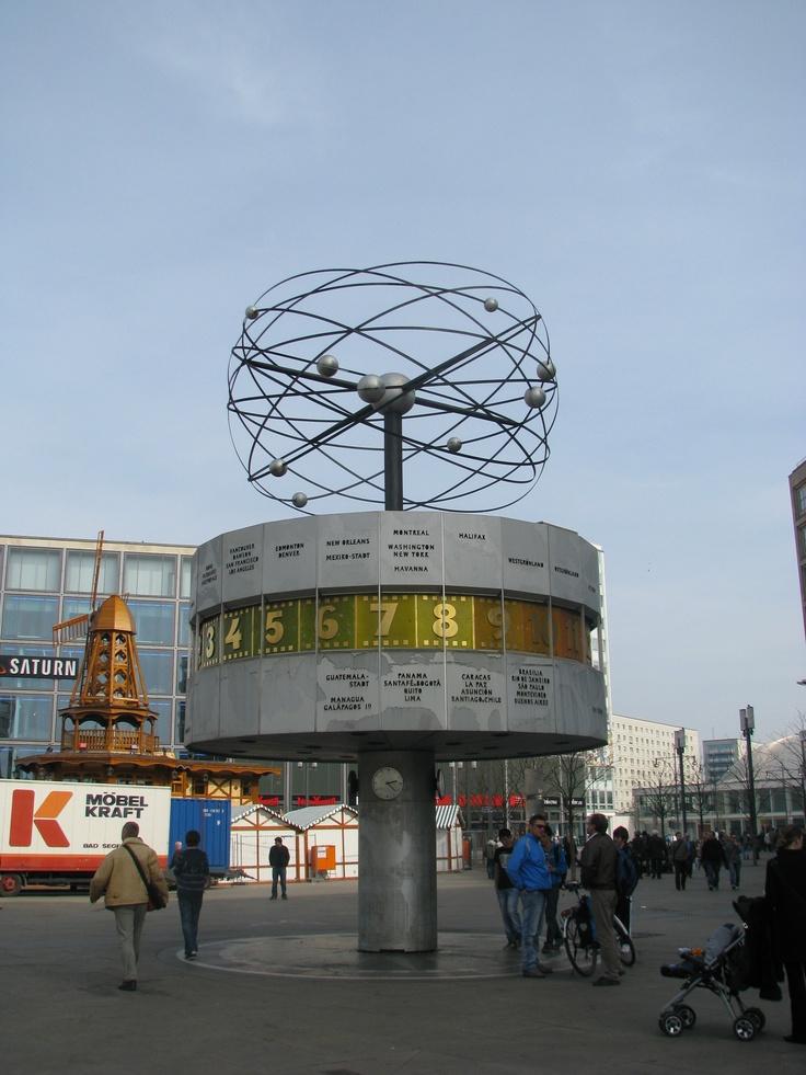 Luxury Weltzeituhr Berlin Deutschland Reloj mundial