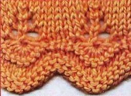 knitting borders Узор спицами