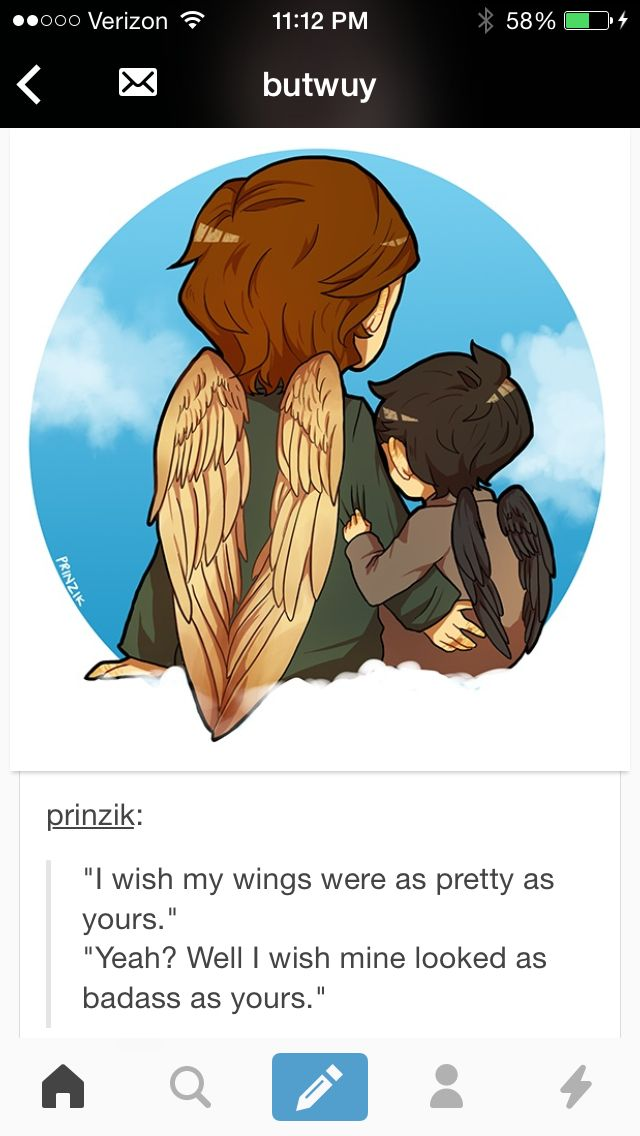 Doesn't even matter who said what AND ANOTHER THING! Not to judge the artist (seriously I love this) ALMOST everyone draws the archangels with TWO wing when they're supposed to have SIX. Just fyi