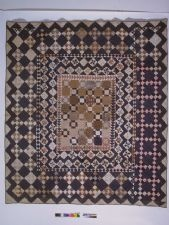 1825 - 1850 Rachel Burr Corwin's Framed-Center Pieced Quilt