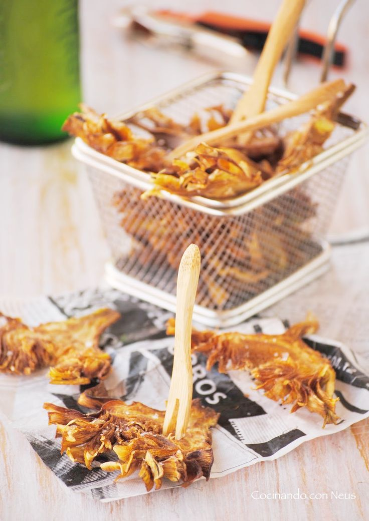 Cocinando con Neus: Chips de alcachofas