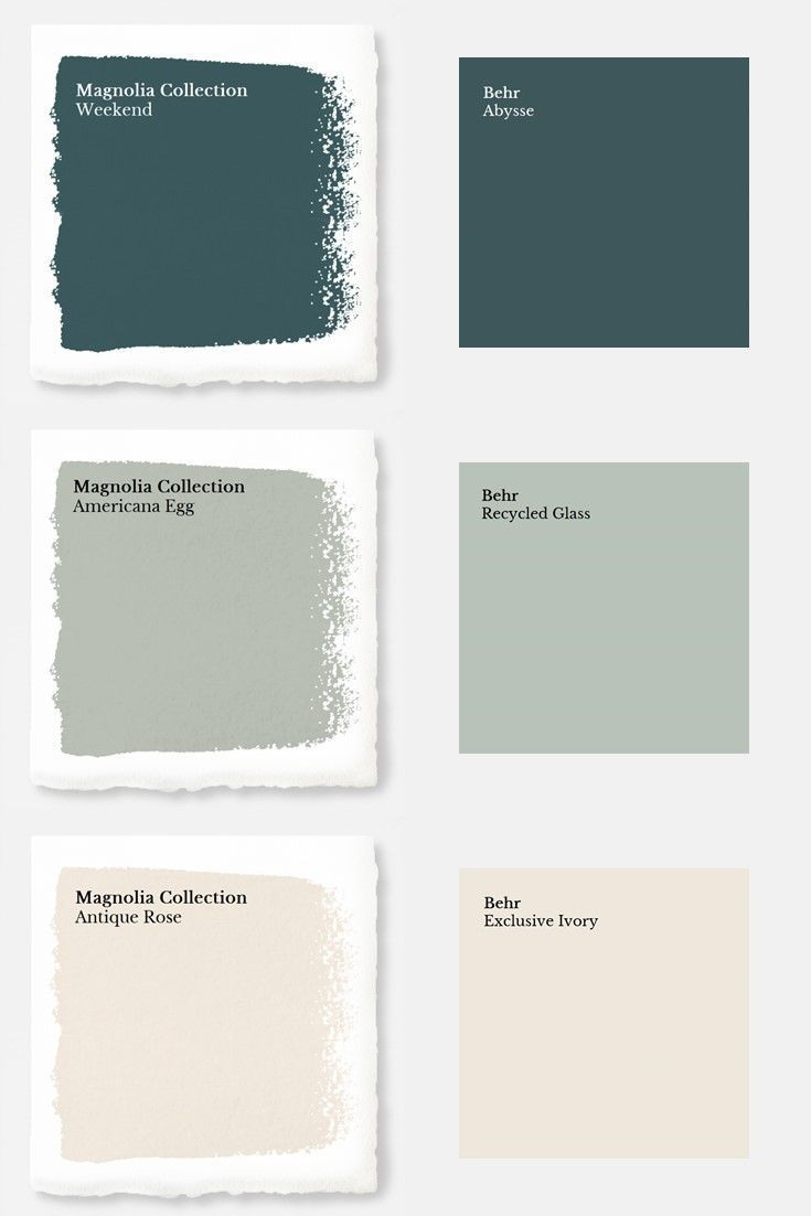 Magnolia Paint Colors Matched to Behr – #Behr #Col…