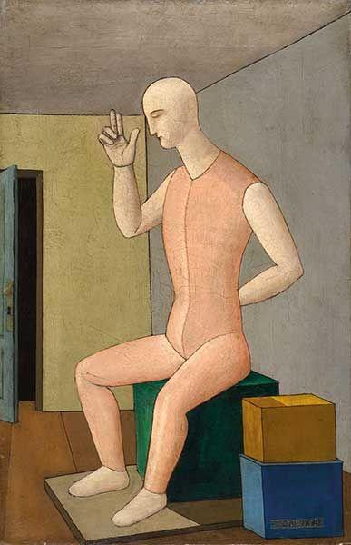 Carlo Carrà Il dio ermafrodito, 1917 Olio su tela, cm 65 x 42 Collezione privata - Opera in mostra