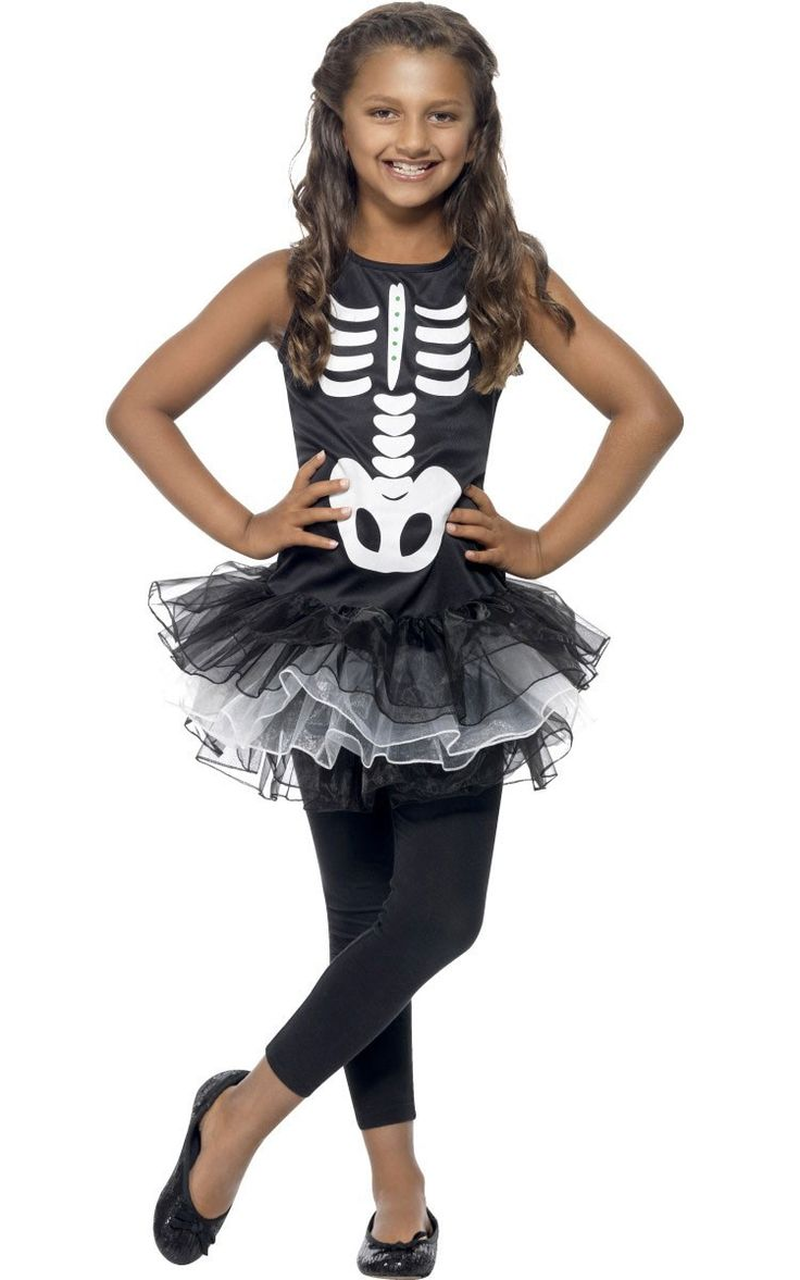 """<p>Get spooky this Halloween with this cute <strong>girl's Skeleton Tutu costume</strong> by Smiffy's! Rattle those bones in this sweet skeleton costume, perfect for Halloween or <a title=""""Day of the Dead Costumes"""" href=""""http://www.heavencostumes.com.au/shop-by/character-themes/day-of-the-dead-costumes.html"""" target=""""_self"""">Day of the Dead fancy dress</a> parties! See below for full description and size details.</p>"""