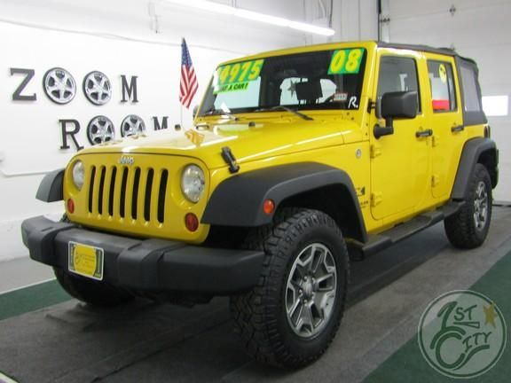2008 Jeep Wrangler Unlimited X for sale at First City Cars and Trucks in Rochester, NH!!!!