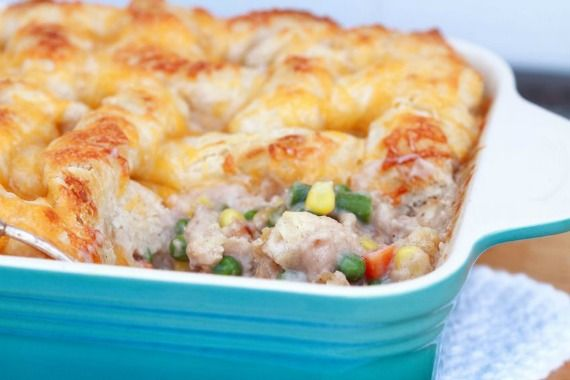 I love this chicken pot pie casserole for those nights when life is too hectic and I'm feeling scatter-brained (which, I think, is probably every day!).