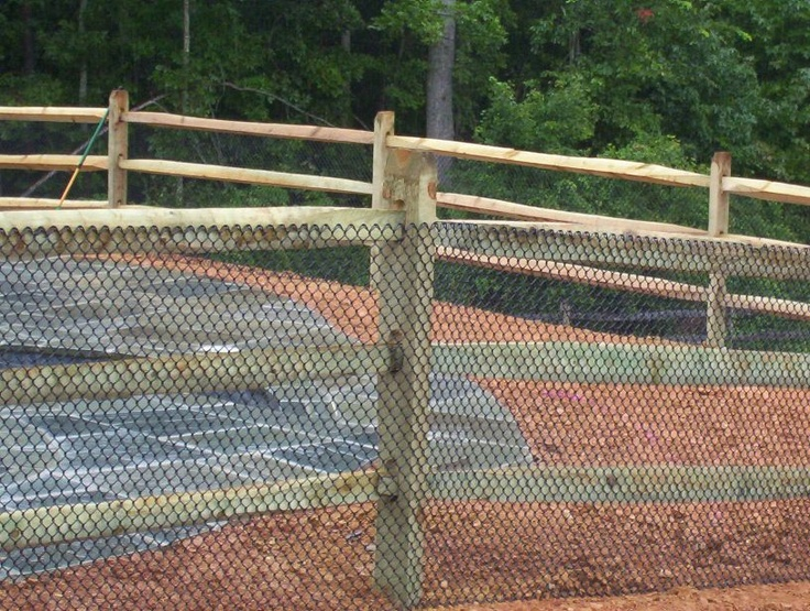 pool fence for inground pools | split rail fencing wood fencing landscape timber retaining wall ...
