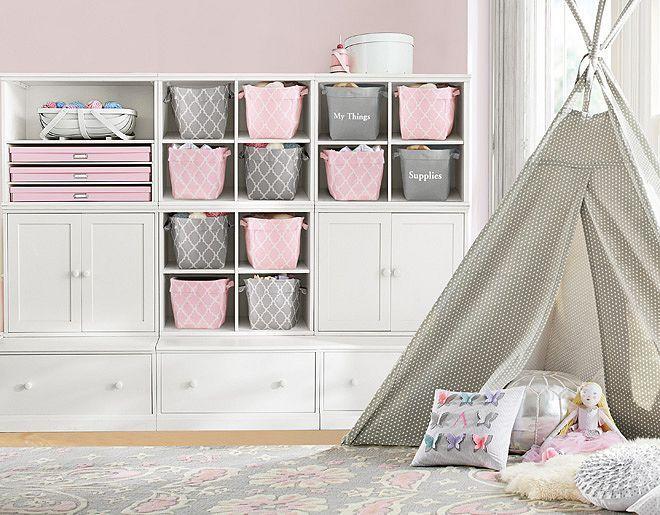 I Love The Pottery Barn Kids Pink Gray Cameron Playroom