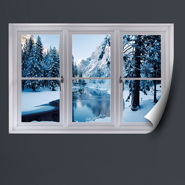 Faux Windows For Windowless Rooms Merced River In Winter