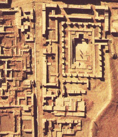 """Mohenjo-daro  Mohenjo-daro, or """"Mound of the Dead"""" is thought to be similarly built to Harappa as all Indus cities possessed a common design reflecting Vedic, organized thought. It can also be prided in being the first city in the world to have a full-fledged draining system. A vast draining system for a whole city was invented in the land of the Indus."""