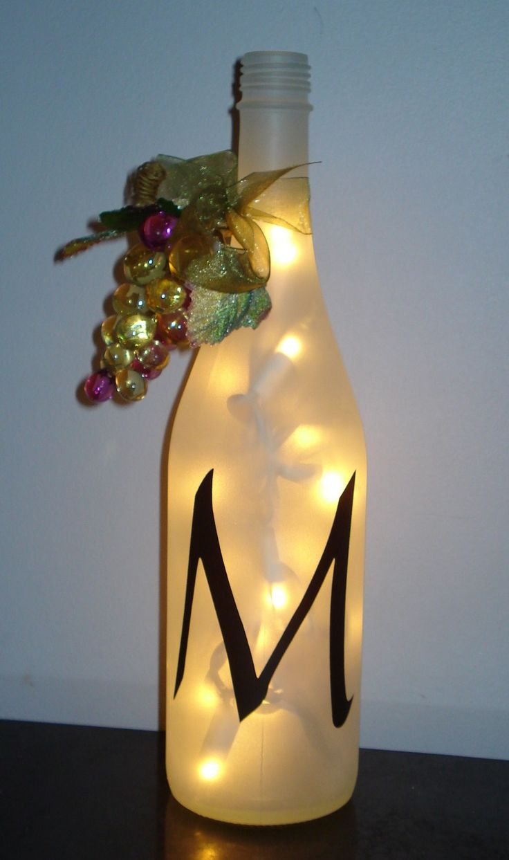 wine bottle decorations - Google Search