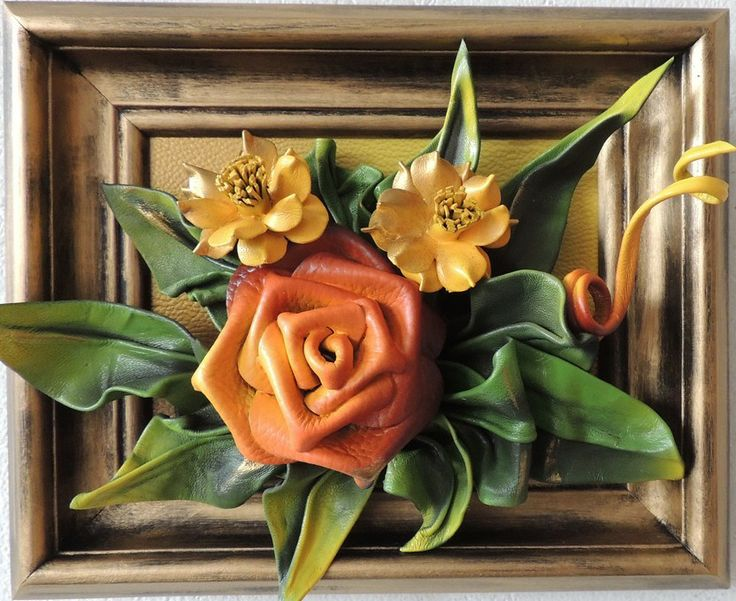 Handmade Leather Flowers in Golden Frame https://www.makmarketplace.com/ Sku: DBKK1-58MKAG  Handmade Leather Flowers in Golden Frame Size: 12in x 9in (28cm x 23cm) Frame: Solid Wood, Gold Stained Colors: Yellow, Orange, Green, Gold Material: Genuine Leather  http://www.pinterest.com/MAKMarketplace/  https://plus.google.com/communities/107298104499962573861 https://www.facebook.com/pages/MAK-Marketplace/331889076912354