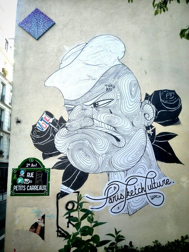 Paris sketch culture - street art - paris 2, rue des petits carreaux (mai 2014)