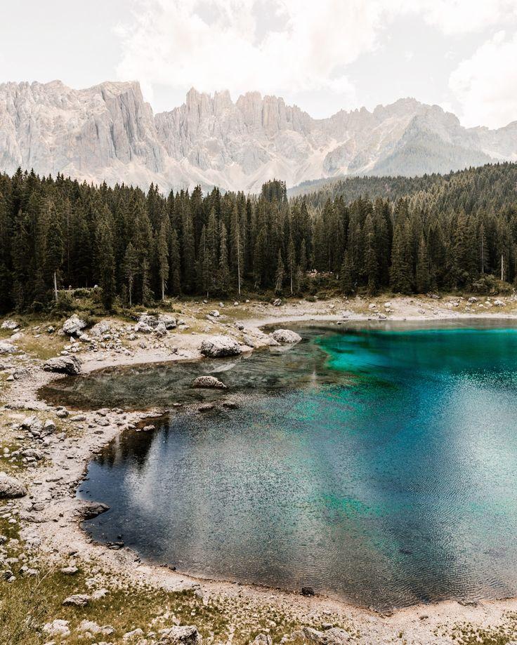 Incredible crystal water in Carezza Lake.  photo by @terumenclova