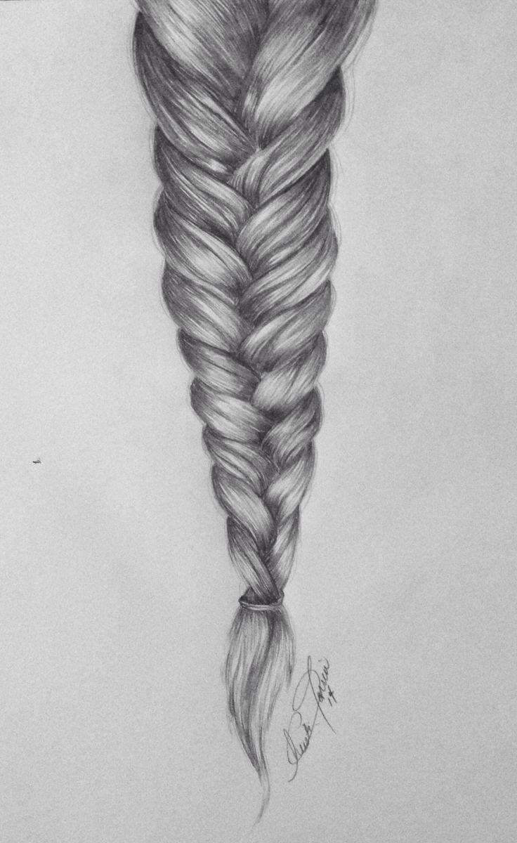 french braid tutorial drawing wwwimgkidcom the image